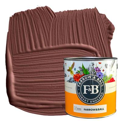 Farrow & Ball - Estate Emulsion - Peinture Mate - NHM W101 Deep Reddish Brown - 2,5 L