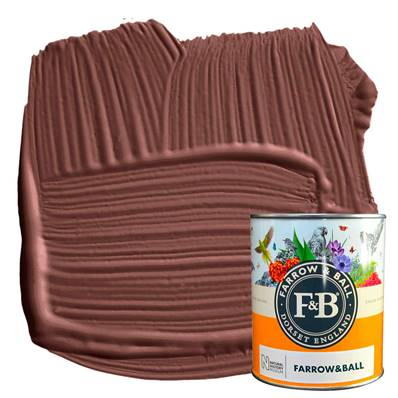 Farrow & Ball - Estate Eggshell - Peinture Satinée - NHM W101 Deep Reddish Brown - 750 ml